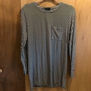 Very J army green stripe pocket tunic